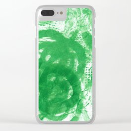 Twirl Stamp Clear iPhone Case