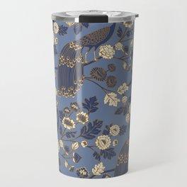 Peacock Garden {Eastern Blue} Travel Mug