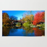 central park Area & Throw Rugs featuring Central Park by Davide Carnevale