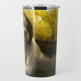 Jake: Sheepdog Portrait Travel Mug