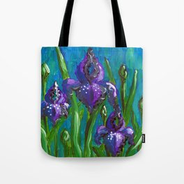 Iris by Mary Bottom Tote Bag