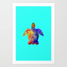 Psychedelic Sea Turtle Art Print