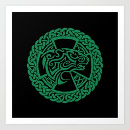 Celtic Nature Polar Bear Art Print