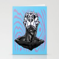 trex Stationery Cards featuring TREX: MALE by Marques Cannon