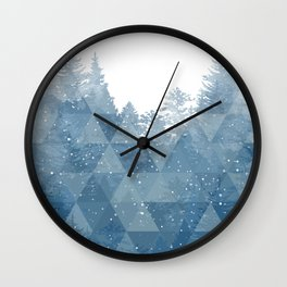 Geo Forest Wall Clock