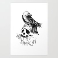 sons of anarchy Art Prints featuring Sons of Anarchy  by Christiano Mere