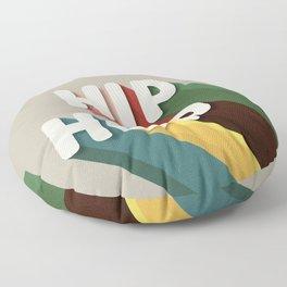HIP HOP - typography Floor Pillow