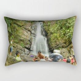 The Roaring La Mina Falls in El Yunque rainforest PR Rectangular Pillow