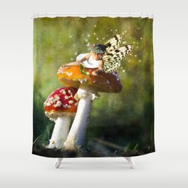 Fairy Neighbor Photo Manipulation Shower Curtain