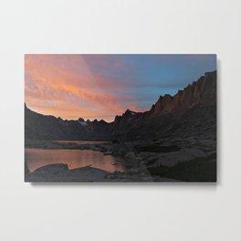 Titcomb Basin Sunset, Wind River Range Metal Print