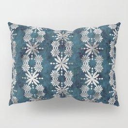 Boho Flower Stripe Jade Pillow Sham