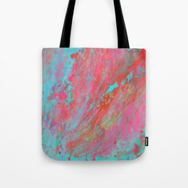 Colourful Nebula Universe Abstract Acrylic Painting Tote Bag