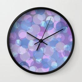 Pastel Pink and Blue Balls Wall Clock