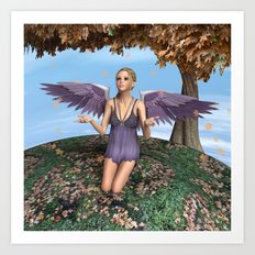 Autumn Angel Art Print