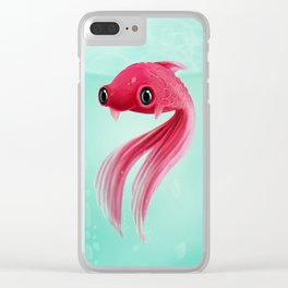 Little Fish Coy Koi Clear iPhone Case