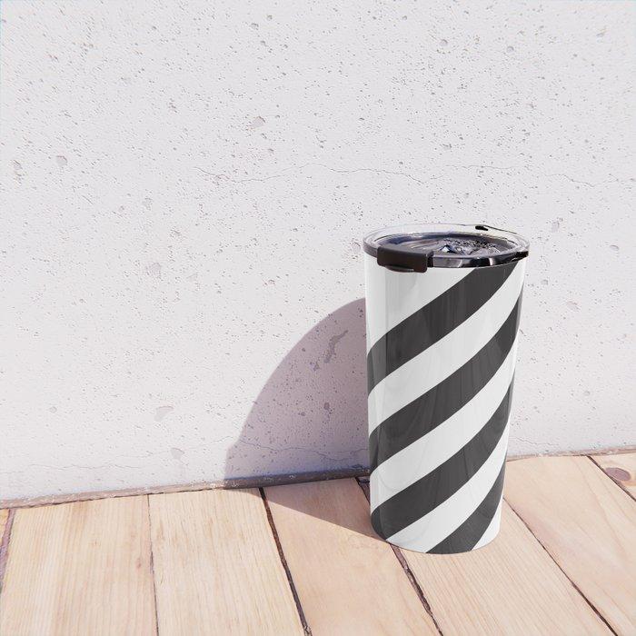 Dark Stripes Travel Mug