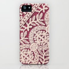 lace on red iPhone (5, 5s) Slim Case