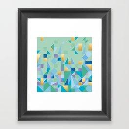 Yoga Quilt Framed Art Print