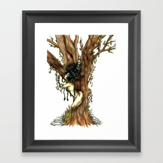 Elemental series - Earth Framed Art Print