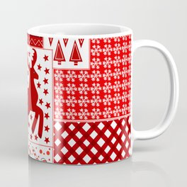 Holiday Red Quilt Design Coffee Mug