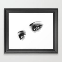 Female Eyes Framed Art Print