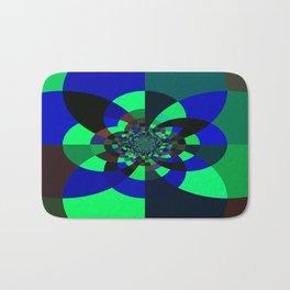 Green Blue Kaleidoscope Bath Mat