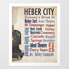Travel - Heber City Art Print