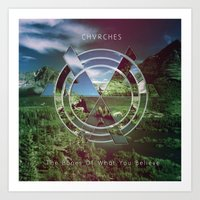 chvrches Art Prints featuring Chvrches The Bones of what you believe by whatdesigns