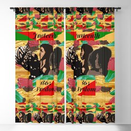 Juneteenth 1865 Freedom Collage Blackout Curtain