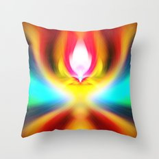 When the sands of time find you dawdling...falling into colour is easy Throw Pillow