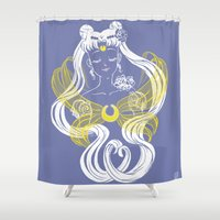 supergirl Shower Curtains featuring Serenity by Madoca