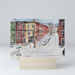 West Philly intersection Mini Art Print