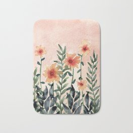 Peachy Fields Bath Mat