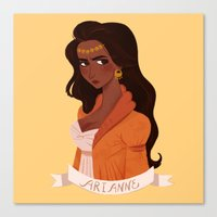 martell Canvas Prints featuring Arianne Martell by Melanie Atwater