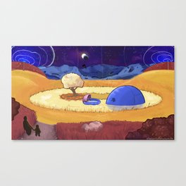 Mysterious Moon Machine Canvas Print
