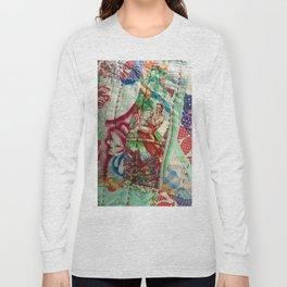 Vintage Hawaiian Quilt Scrap Long Sleeve T-shirt