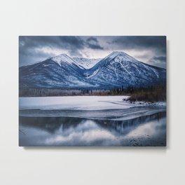 Vermillion Lakes Metal Print