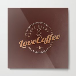 Love Coffee Metal Print