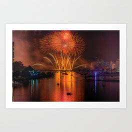 Happy 4th of July, USA!!! Art Print
