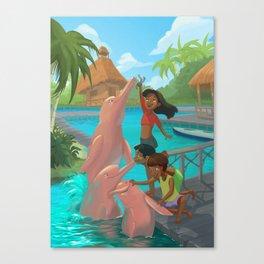 Dolphins fun! Canvas Print