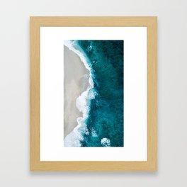 Ocean Divide Turquoise Sea Framed Art Print
