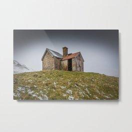 Snowswept Cottage Metal Print