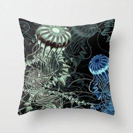 Chrysaora hysoscella (Dark) Throw Pillow