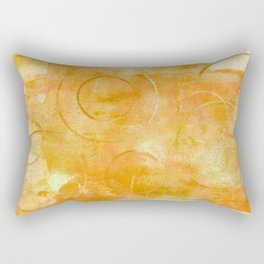 Will it Go Round in Circles, Abstract Art Painting Rectangular Pillow