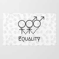 equality Area & Throw Rugs featuring Marriage Equality by Purshue feat Sci Fi Dude