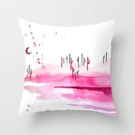 Cotton Candy Desert Throw Pillow