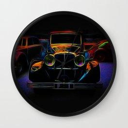 Fractal car vintage car Wall Clock
