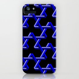 Impossible Blue Triangles iPhone Case