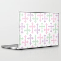 pastel goth Laptop & iPad Skins featuring Pastel Goth by Glitterati Grunge