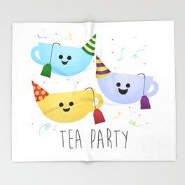 Tea Party Throw Blanket